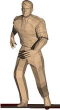 imagen Hombre corriendo, en 3d - Personas