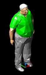 imagen Hombre obeso.3d, en 3d - Personas