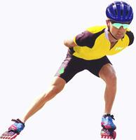 imagen Hombre patinando en roller, en Fotografías para renders - Personas