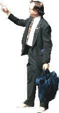 imagen Hombre señalando, en Fotografías para renders - Personas