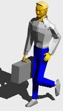 imagen Hombrecaminando, en 3d - Personas