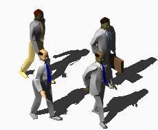 imagen Hombres caminando 3d, en 3d - Personas