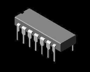 imagen Ic 3d, en Componentes 3d - Electrónica