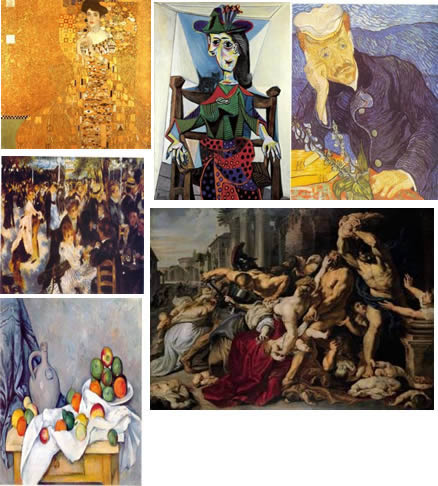 imagen Imagenes de pinturas, en Cuadros - Texturas
