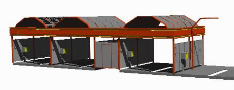 imagen Impianto di lavaggio - lavadero automoviles 3d, en Estaciones de servicio - Proyectos