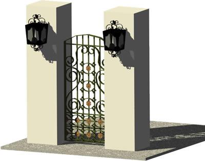 imagen Ingreso - reja 3d con materiales aplicados, en Puertas 3d - Aberturas