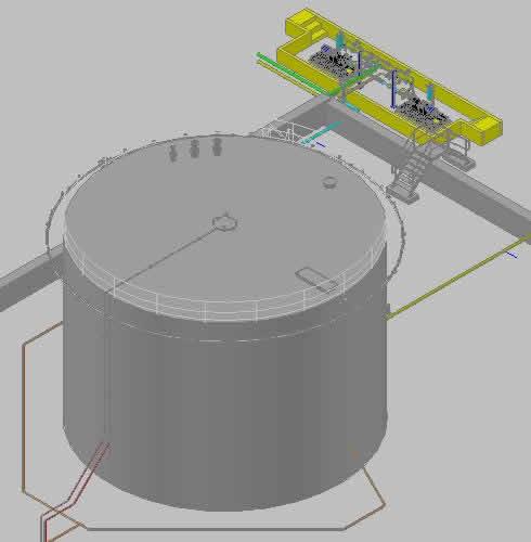 imagen Instalacion de una red contra incendio de tanque, en Instalaciones contra incendios - Instalaciones