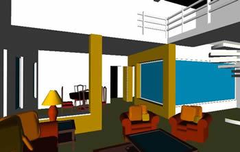 Planos de interior de una casa habitacion minimalista en for Proyecto casa habitacion minimalista