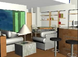 imagen Interior de una vivienda, en Vivienda unifamiliar 3d - Proyectos