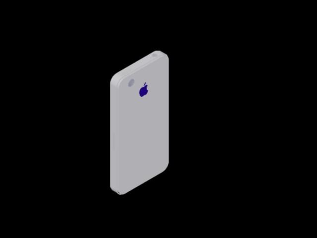 imagen Iphone en 3d, en Componentes 3d - Electrónica
