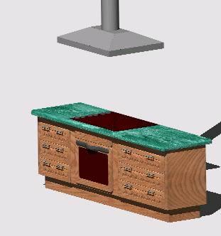 Planos de isla de cocina en cocinas muebles for Estufas para islas