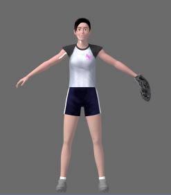 imagen Joven  deportista 3d, en 3d - Personas