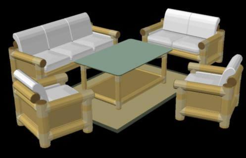 imagen Juego de sala, en Salas de estar y tv - Muebles equipamiento