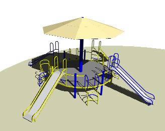 imagen Juego infantil 3d, en Juegos infantiles - Equipamiento urbano