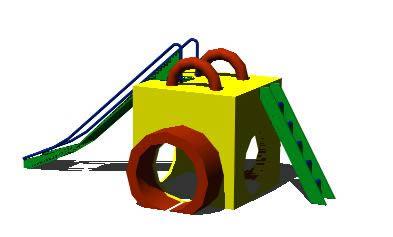 imagen Juego infantil cubo, en Juegos infantiles - Equipamiento urbano