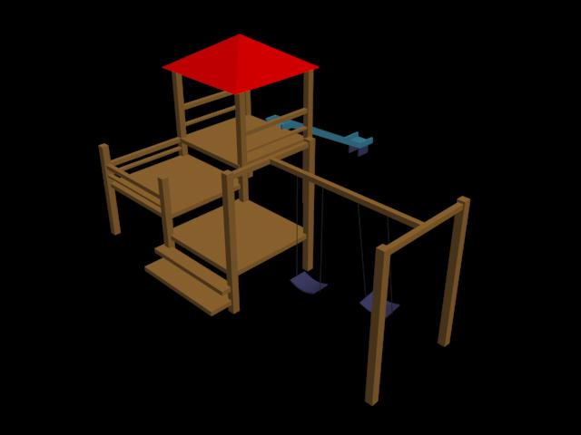 imagen Juegos infantiles en 3d, en Juegos infantiles - Equipamiento urbano