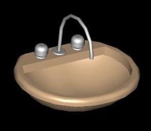 imagen Lavamanos 3d, en Lavatorios - Sanitarios