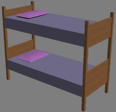 Litera 3d en dormitorios muebles equipamiento en planospara for Cama 3d dibujo