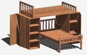 imagen Literas de madera - cama cucheta, en Dormitorios - Muebles equipamiento