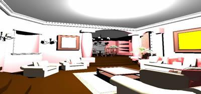 imagen Living y comedor en 3d, en Salas de estar y tv - Muebles equipamiento
