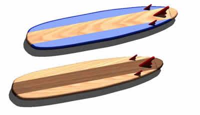imagen Long board 3d, en Deportes acuáticos - Deportes y recreación