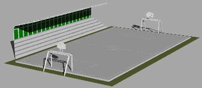 imagen Losa deportiva - 3d, en Canchas - Deportes y recreación
