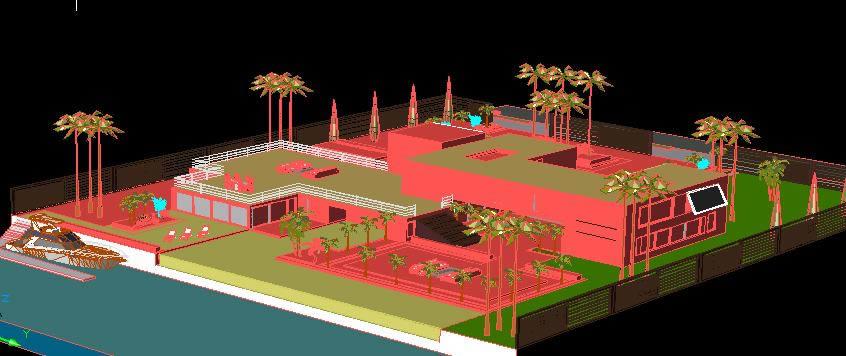 imagen Mansion de playa, en Vivienda unifamiliar 3d - Proyectos