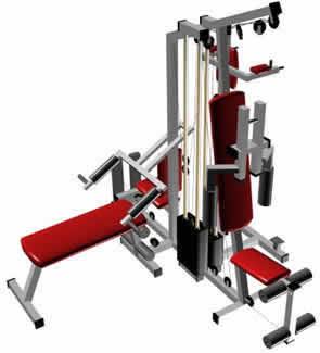 Maquina de ejercicios 3d en equipamiento gimnasios for Maquinas de ejercicios