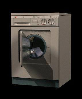 imagen Maquina de lavar roupa 3d, en Electrodomésticos - Muebles equipamiento