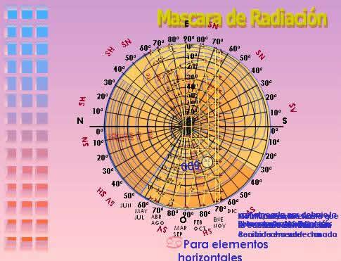 imagen Mascara de radiacion solar, en Iluminación - Planillas de cálculo