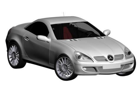 imagen Mecedes 3d - automovil 3d, en Automóviles en 3d - Medios de transporte