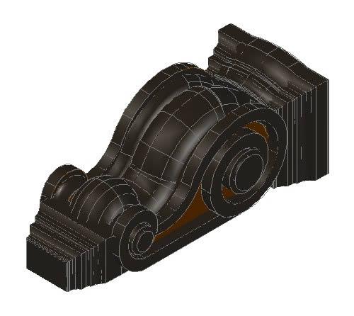 imagen Mensula - madera, en Molduras de madera - Detalles constructivos