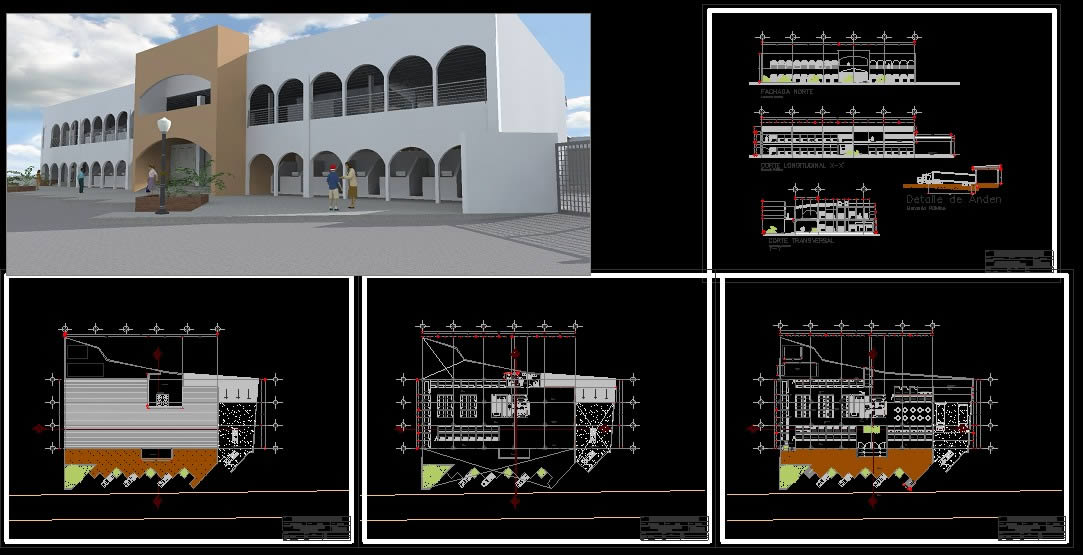 imagen Mercado 2 niveles, en Centros comerciales supermercados y tiendas - Proyectos