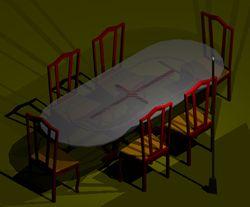imagen Mesa 041, en Mesas y juegos de comedor 3d - Muebles equipamiento