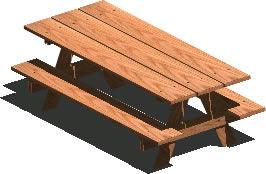 imagen Mesa banco para jardin 3d con materiales aplicados, en Equipamiento de parques paseos y plazas - Equipamiento urbano