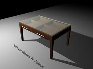 imagen Mesa con cajones, en Mesas y juegos de comedor 3d - Muebles equipamiento