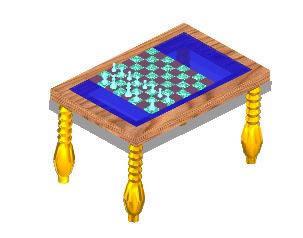 imagen Mesa de ajedrez 3d, en Ejercicios varios - Dibujando con autocad