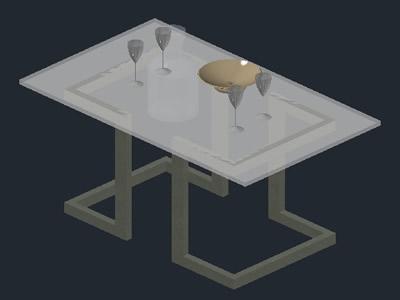 mesa de centro autocad 2d