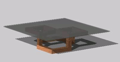 mesa de centro 3d autocad