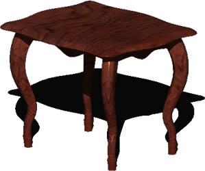 imagen Mesa de centro estilo luis xvi 3d con materiales aplicados, en Mesas y juegos de comedor 3d - Muebles equipamiento