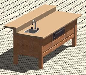 imagen Mesa de cocina 3d, en Cocinas - Muebles equipamiento