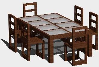 Planos de mesa de comedor en mesas y juegos de comedor 3d for Comedor hexagonal