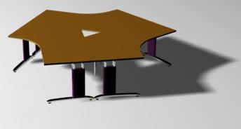 imagen Mesa de conferencias 3 lados, en Escritorios - Muebles equipamiento