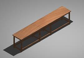 imagen Mesa de trabajo 3d, en Escritorios - Muebles equipamiento