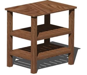 imagen Mesa estante, en Estanterías y modulares - Muebles equipamiento