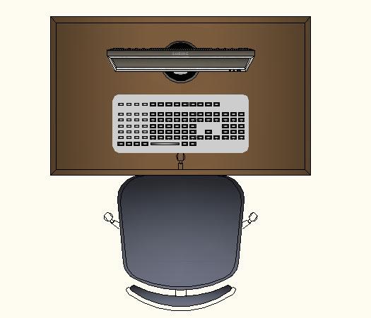 imagen Mesa para computador, en Mesas 2d - Muebles equipamiento