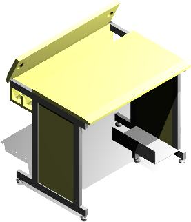 imagen Mesa para equipo de computo, en Oficinas y laboratorios - Muebles equipamiento