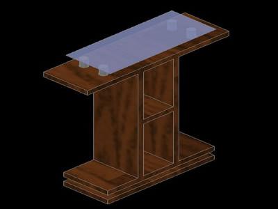 imagen Mesa para tv. 3d, en Salas de estar y tv - Muebles equipamiento