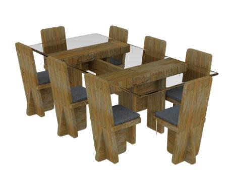 Mesas y juegos de comedor 3d archives p gina 6 de 22 for Mesa de comedor cristal y madera