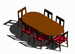 imagen Mesa y sillas 3d, en Mesas y juegos de comedor 3d - Muebles equipamiento